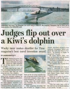 Judges flip out over a Kiwi's dolphin