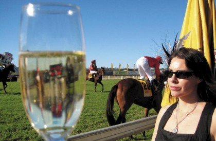 Philomena checks out the calibre and the champagne at the Caloundra Cup